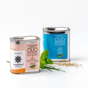 Olio aromatizzato erbe mediterraneo erba cipollina